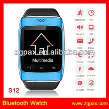 2014 New Fashion Wholesale Bluetooth Smart Watch Sync For Iphone Android Mobile Phone