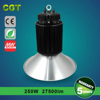 Indoor dimmable LED high bay light 250w 5 years warranty Meanwell driver IP65