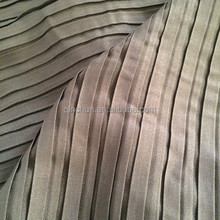 Hot selling , pleated chiffon fabric for dress, pleated skirt. new style