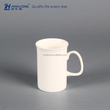 350ml Round Shape Common Design Daily Used Fine Bone China Mugs With Handle
