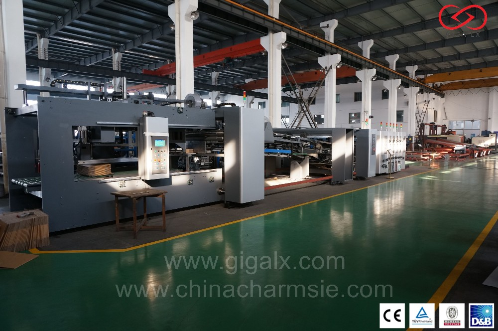 GIGA LX FGA Automatic Carton Folder Gluer Packaging Machines Online With Box Cardboard Machine