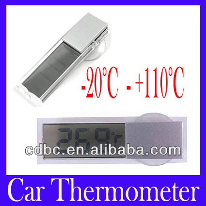 Digital LCD Display Auto Car Indoor Home Household Thermometer with Sucker Cup,K-036