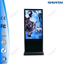 55inch digital interactive All In One LCD stand touch screen monitor