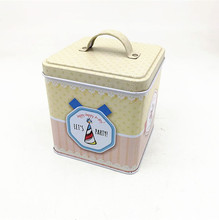 hot sale fancy custom square cosmetic wedding favor cookie tin can