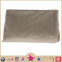 Practical ultra supple material solid two ply airline blanket/ super soft travel blanket from China wholesale polyester