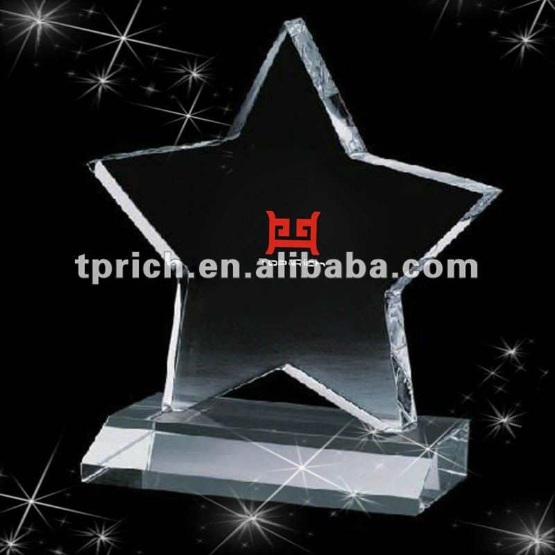 Pentagram Acrylic trophies and awards designs