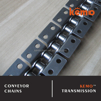 Stainless steel conveyor chain with attachment WK2