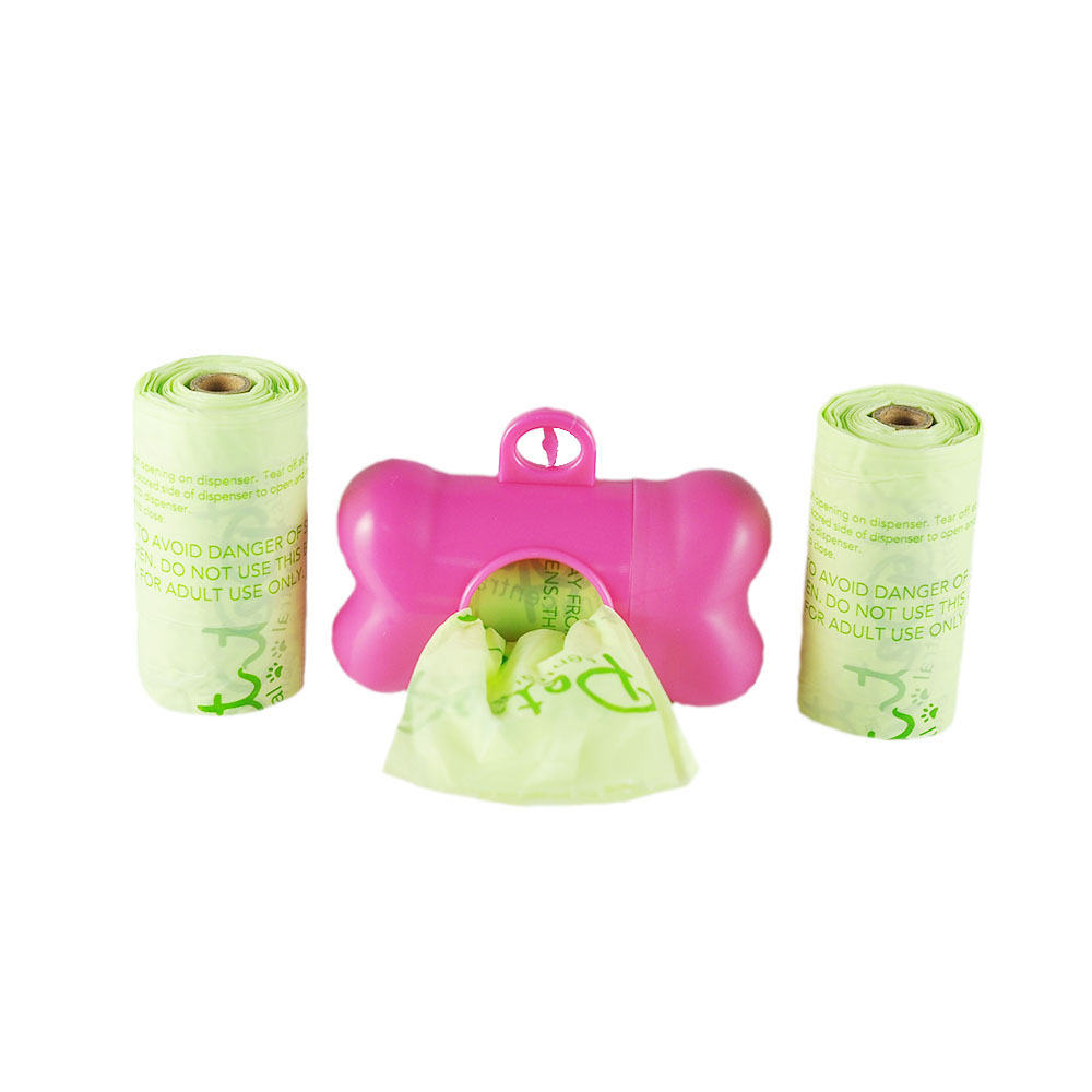 Hot sale factory direct cheap 100% biodegradable dog poop bags on roll manufacturer with EN13432 BPI OK compost home