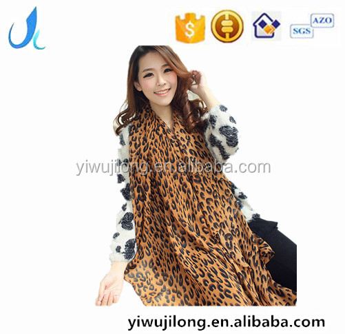 Leopard grain fold of new fund of 2016 autumn winters voile scarves Large shawl wholesale
