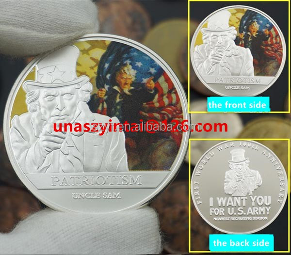 American Stars and Stripes commemorative coins World War II US conscription silver coin