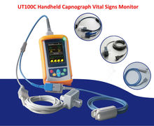 ETCO2 Portable Handheld Capnograph/Pulse Oximeter with Optional Rechargeable Battery