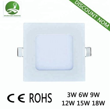 Good quality Ultra thin square aluminium plastic led light panel light 18w led light panel Ra> 75 2835/90pcs 2700~6500K led
