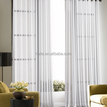 100% polyester embroidered organza cafe living room curtain