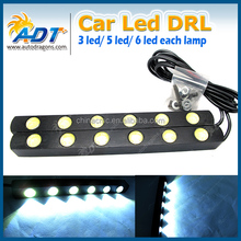 Universal Xenon White 10W LED High Power Daytime Running Light DRL Lamps with On/Off Switch