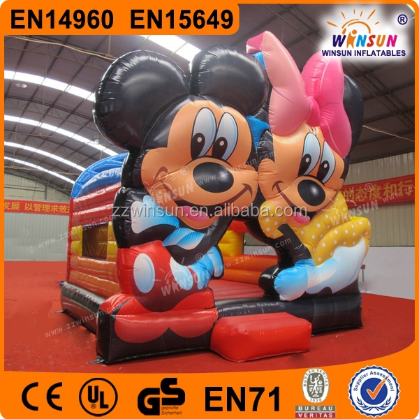 WINSUN inflatable castle cartoon for sale,inflatable bouncy castle mickey mouse