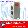 Movable water ozonator, air feeding ozone generator for aquaculture fish pond