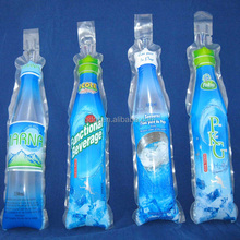 Qingdao 400ml No Leakage Bottle Shaped Plastic Beverage Wrapping Pouches