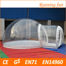 Best-sale blow up structure inflatable clear dome tent, inflatable bubble tent camping