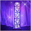 wedding columns decorative/party decoration columns/purple light indoor decorative columns wholesale