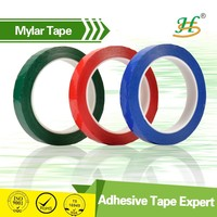 White Black Blue Green Yellow Red Transparent Clear Similar 3M Mylar Tape For Insulation