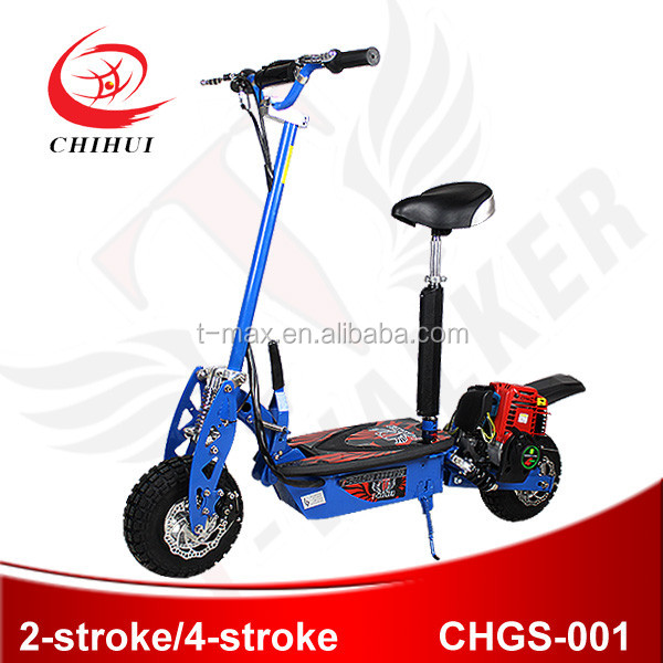2 wheel foldling 49cc gas scooter with CE certificate hot on sale