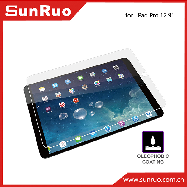 "Laptop tempered glass screen protector for iPad pro 12.9"", for 12.9 inch iPad pro tablet screen protector"