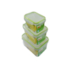 3pcs plastic kitchen food containers with lock