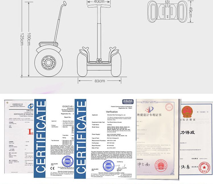 Leadway shenzhen balance scooter and electric scooters with CE,FCC,ISO,ROHS (W5L-13a)