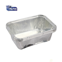 Square Disposable Aluminum Foil Pans Aluminium Foil Food Container Trays