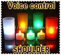 Voice Control (Yellow & RGB) Battery Operated LED Candle Light