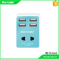 Best quality 5v 2a micro usb wall charger with 4 usb,3 in 1 adapter