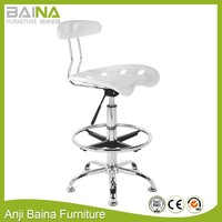 Plastic bar stool tractor seat swivel colorful adjustable drafting pub chrome salon chair