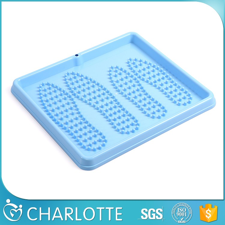 Newest design top quality blue plastic shoe tray