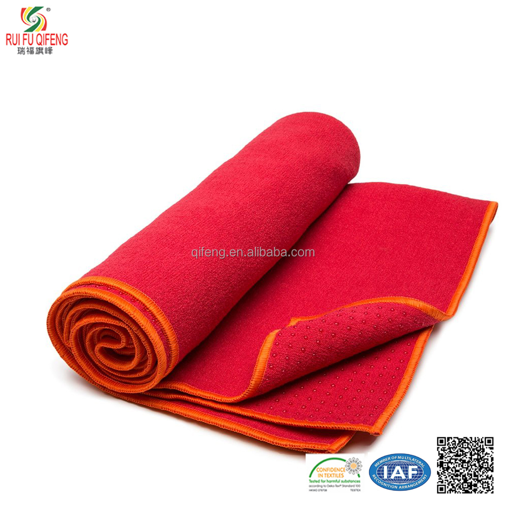 Silicone non-slip portable traditional practice alike hot yogo towel