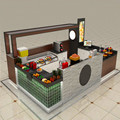 Fresh juice shop furniture and juice bar counter design for sale
