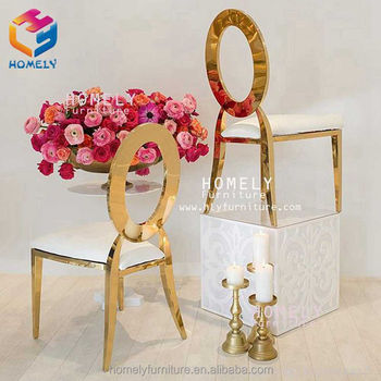 modern hotel hall party banquet hollow out royal back wedding modern new design stainless steel chair