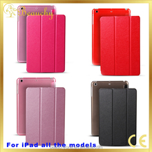 New Arrvial 10 Colors Available Luxury Leather Flip cover For Ipad Air2 9.7 Tablet Case