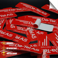 0.12mm water proof adhesive waterproof labels for glass