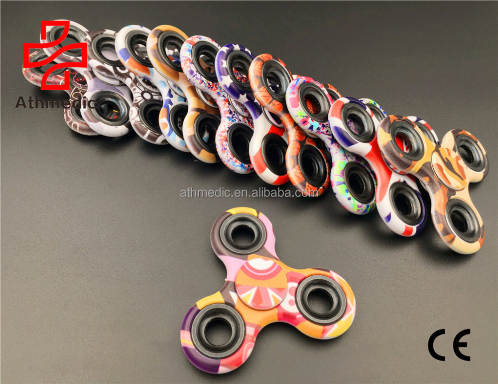 2017 Athmedic small MOQ quantity fast customized OEM pattern fingertip gyro fingertip spinner hand spinner gyroscope <strong>toy</strong>