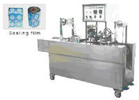 automatic plastic cup filling and sealing machine