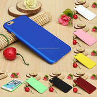 Plain single color rubber finish plastic phone case back cover for iphone 6