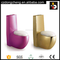 Hot Selling Chaozhou One Piece Ceramic Bathroom Color Toilet