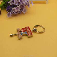 the metal spinner key chain as souvenirs keychain