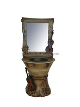 pedestal basin with vanity unit