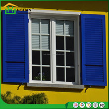 modern american style upvc sliding grill window with roller shutter and casement wood window blinds popular for beach house
