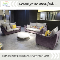 China wholesale cheap purple sectional sofa for living room