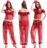 Ladies Princess Jasmine Style Costume Fancy Dress Sexy Fairytale Belly Dancer