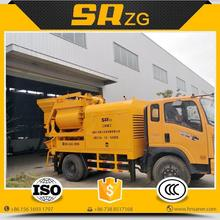 Contemporary hot selling self loading concrete mixer truck pump