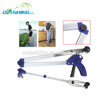 Deluxe folding reacher helping hand with suction cups/lightweight easy carry portable pick up tool reaching tool litter grabber