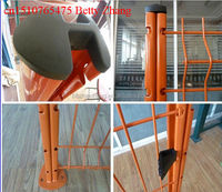 Hot Sale!!!Powder Coated 3D Peach Post Parking Lot Mesh Fence